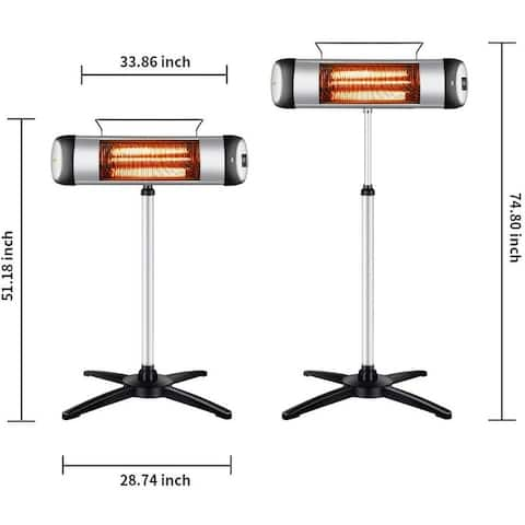 Carbon Infrared 1500 Watt Electric outdoor Heater -One Unit
