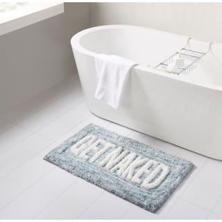 VCNY Home Get Naked Teal Statement Bath Rug
