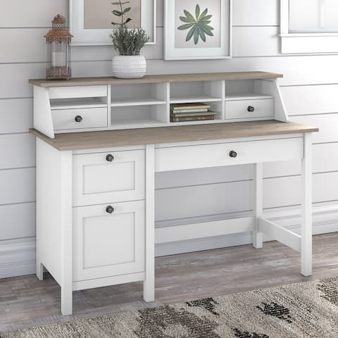 The Gray Barn Orchid Gulch Computer Desk with Drawers and Organizer