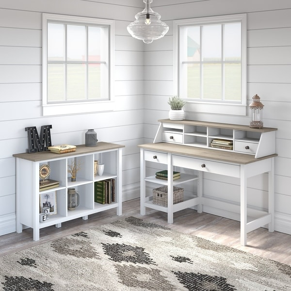 Mayfield Computer Desk with Shelves and Bookcase by Bush Furniture