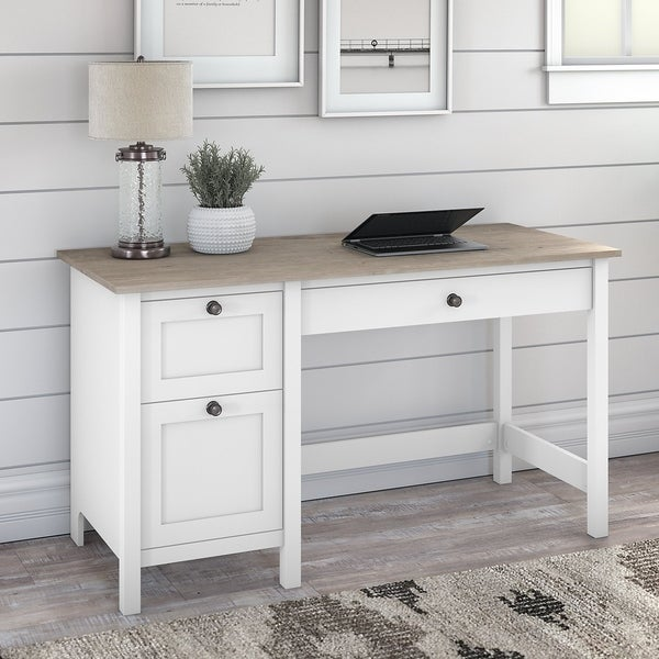 The Gray Barn Orchid Gulch Farmhouse Computer Desk with drawers. Opens flyout.