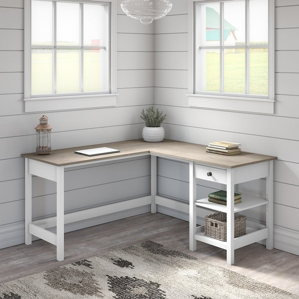 The Gray Barn Orchid Gulch L-shaped Computer Desk with Storage