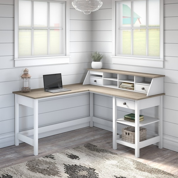 Mayfield 60W L Shaped Computer Desk with Organizer by Bush Furniture