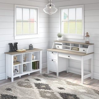 Mayfield Computer Desk with Drawers and Bookcase by Bush Furniture