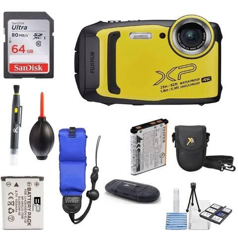Fujifilm FinePix XP140 Shock & Waterproof Wi-Fi Digital Camera Bundle
