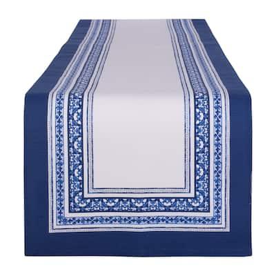 DII Porto Stripe Print Table Runner