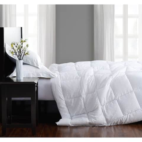 London Fog Embossed Stripe Seersucker Down Alternative Comforter