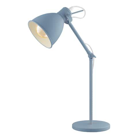 Eglo Priddy Desk Lamp w/ Pastel Light Blue Finish