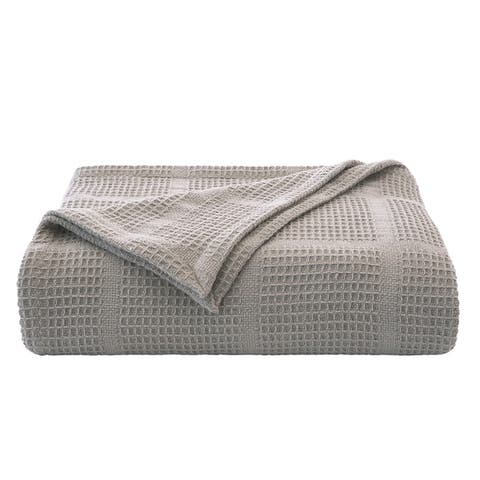 Kenneth Cole New York Waffle Grid Blanket