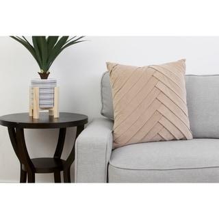 20x20 James Pleated Velvet Pillow