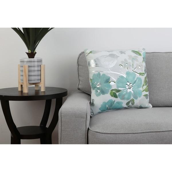 18 PF Harbor Silver CORNELIA Floral Pillow
