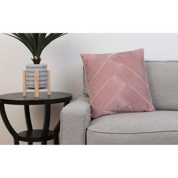20 PF Pink ABIGAIL PLEATED Velvet Pillow