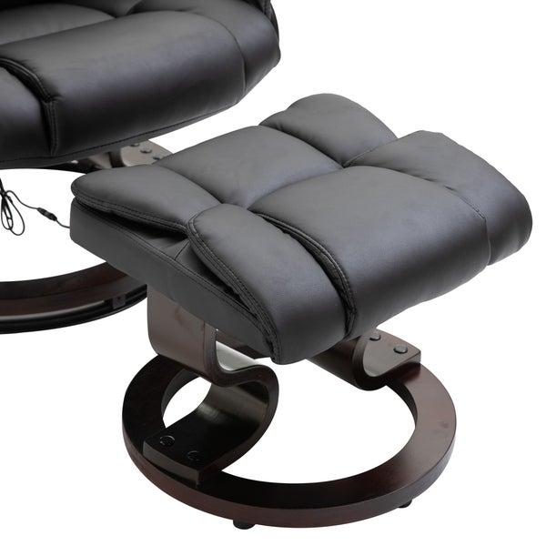 Shop HOMCOM Massage Recliner Chair with Footrest, 10