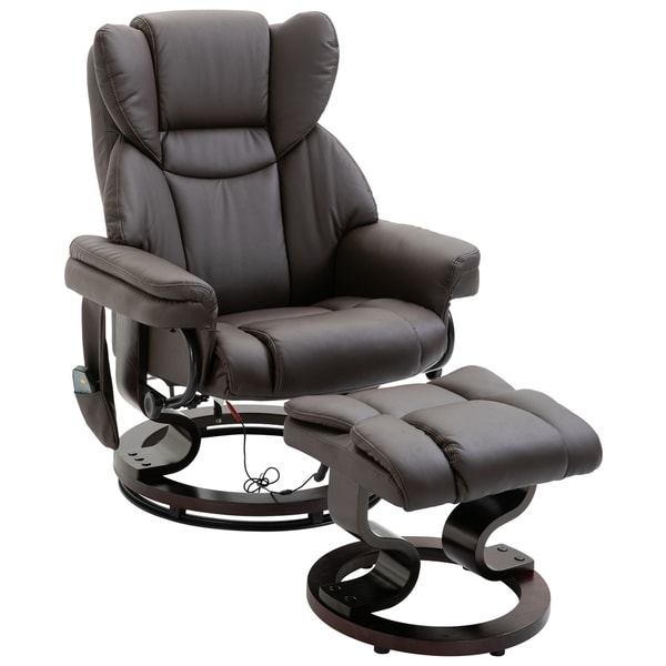 Shop HOMCOM Massage Recliner Chair with Footrest, 10