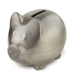 Link to Elegance Piggy Bank Pewter Finish Plain Similar Items in Collectibles