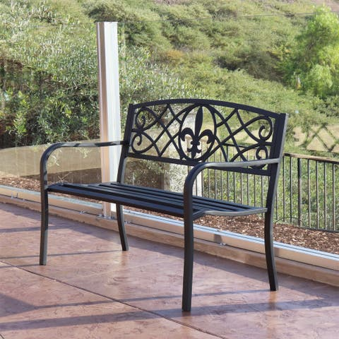 Maypex 4 Ft Steel Patio Bench - 4Ft