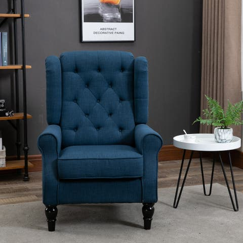 Copper Grove Guanta Tufted Accent Chair with Wooden Legs