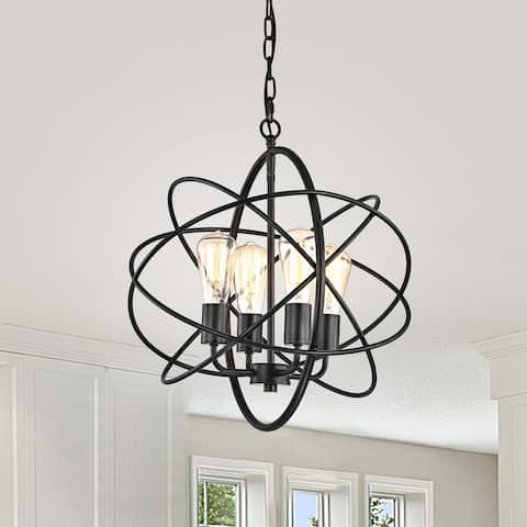 Benita Antique Black 4-light Metal Orb Sphere Shape Chandelier