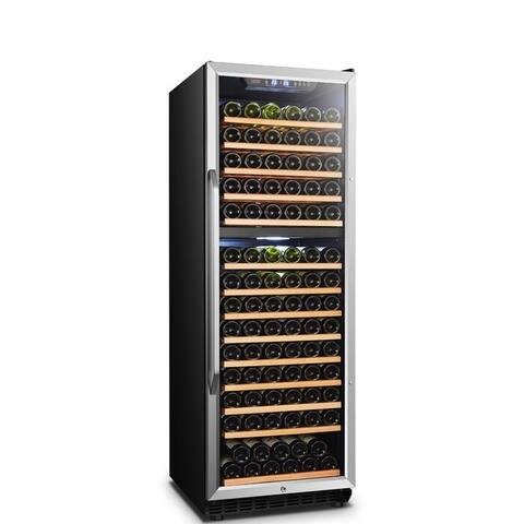 Lanbo Dual Zone Compressor Wine Cooler, 160 Bottles