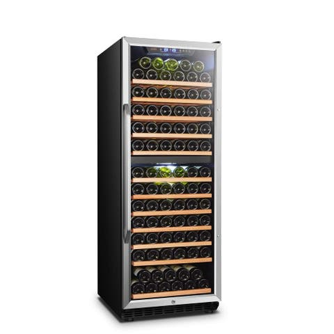 Lanbo Built-in Dual Zone Wine Cooler with Safety Lock, 138 Bottle