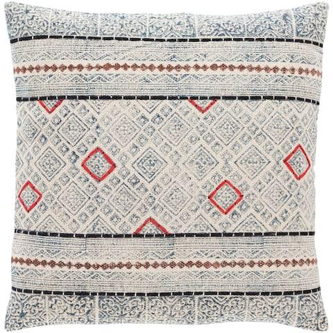 Lukina Global Block Print 20-inch Throw Pillow