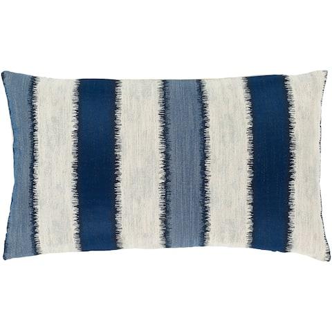 Etta Striped Coastal 14x24-inch Lumbar Throw Pillow