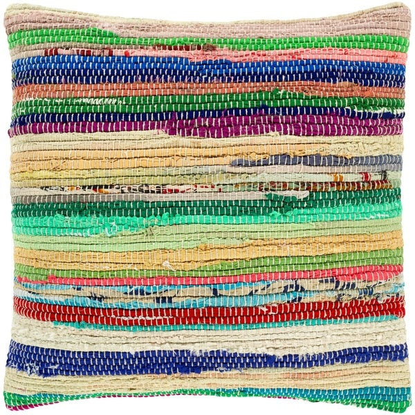 Roper Rainbow Hand-woven 22-inch Throw Pillow