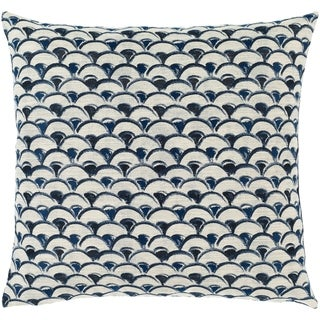 Etta Blue & Ivory Classic Scallop Throw Pillow