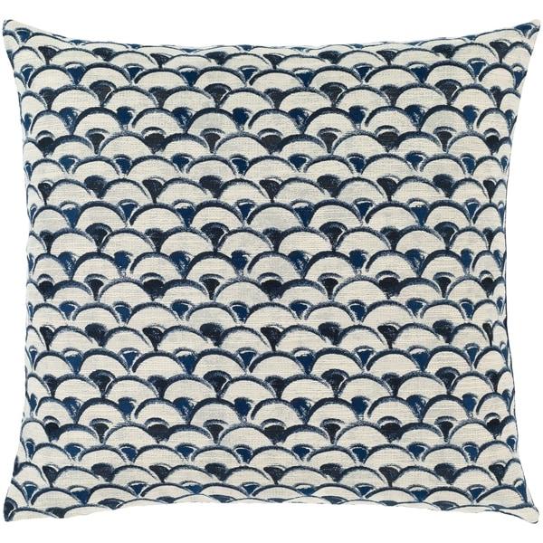 Etta Blue & Ivory Classic Scallop Throw Pillow