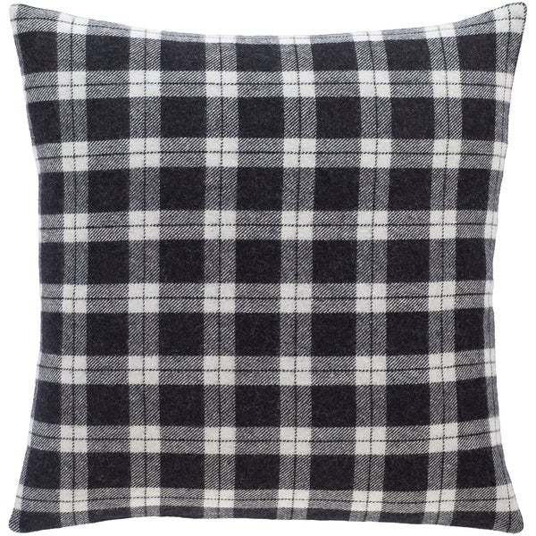 Suri Classic Black & Grey Plaid Throw Pillow