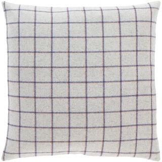 Suri Retro Grey Plaid Throw Pillow