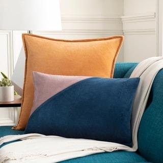 Maiti Cotton Velvet Geometric 13x20-inch Lumbar Throw Pillow