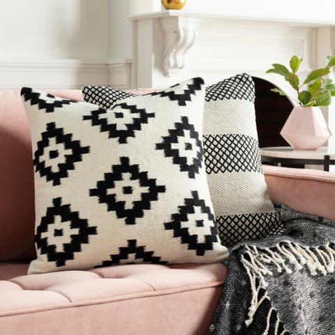 Seneca Hand Woven Geometric 20-inch Throw Pillow