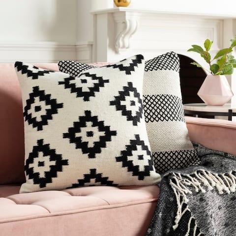 Seneca Hand Woven Geometric 20-inch Throw Pillow