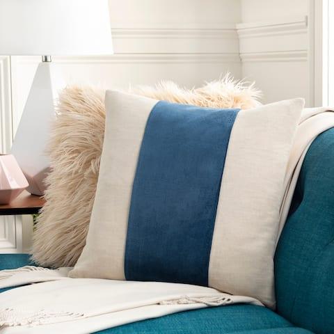 Maiti Cotton Velvet Striped 18-inch Throw Pillow