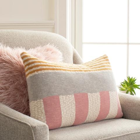 Anaya Knitted Colorblock 16x24-inch Lumbar Throw Pillow