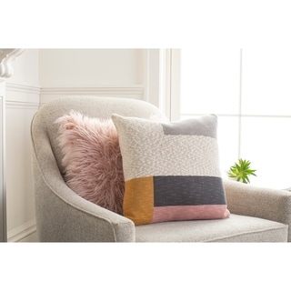 Anaya Knitted Colorblock 18-inch Throw Pillow