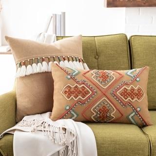 Balbina Geometric Textured 12x20-inch Lumbar Throw Pillow