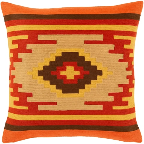 Sattley Southwestern Embroidered 18-inch Throw Pillow