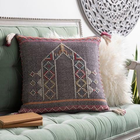 Dacia Handwoven Tribal Bohemian Throw Pillow