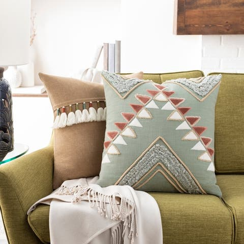 Balbina Geometric Textured Global Throw Pillow