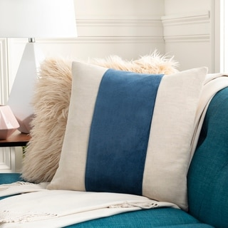 Maiti Cotton Velvet Striped 20-inch Throw Pillow