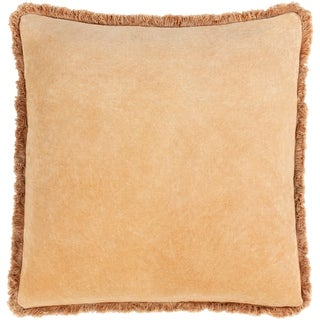 Wasco Cotton Velvet Fringe 18-inch Throw Pillow