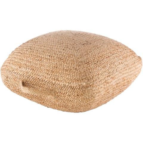 Zeva Jute Braided 25-inch Floor Pillow