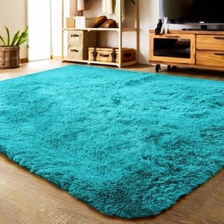 LOCHAS Soft Indoor Modern Area Rugs Fluffy Carpets For Living Room - 4'x5.3'