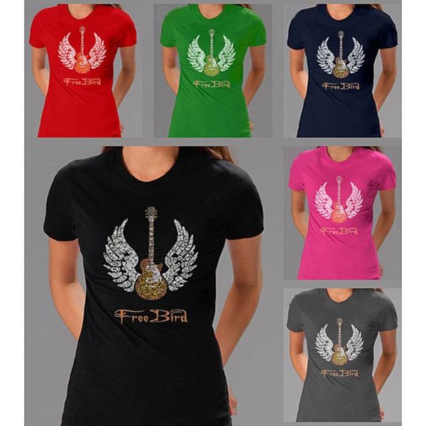 Lynyrd Skynyrd 'Freebird' Lyrics Women's T-shirt. Opens flyout.