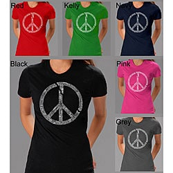 Los Angeles Pop Art Peace Symbol Women's T-shirt
