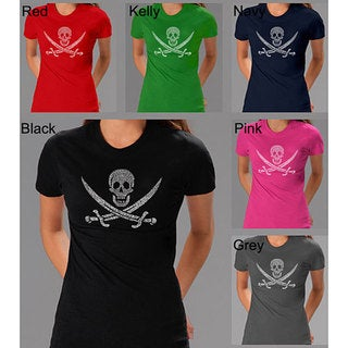 Los Angeles Pop Art Pirate Flag Jolly Roger Women's T-shirt