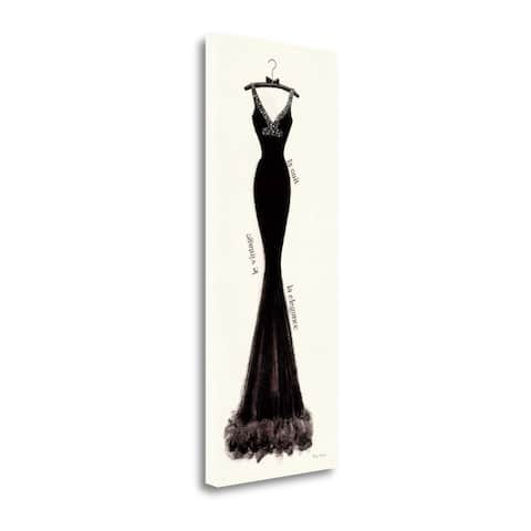 """""""Couture Noir Original I"""" by Emily Adams, Giclee Print on Gallery Wrap Canvas"""