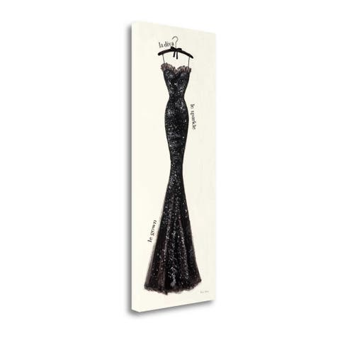 """""""Couture Noir Original IV"""" by Emily Adams, Giclee Print on Gallery Wrap Canvas"""